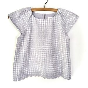 5-6 Girls Gymboree Lavender Embroidered Top